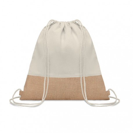 Bolsa de cuerdas, de algodón y yute