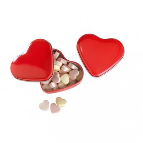 Cajita corazón con caramelos
